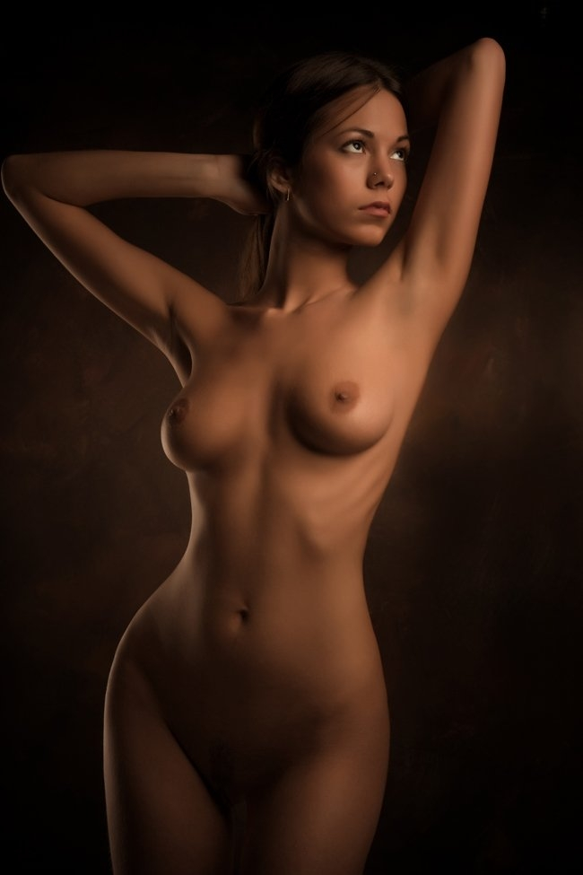 Erotic photo about a nude brunette