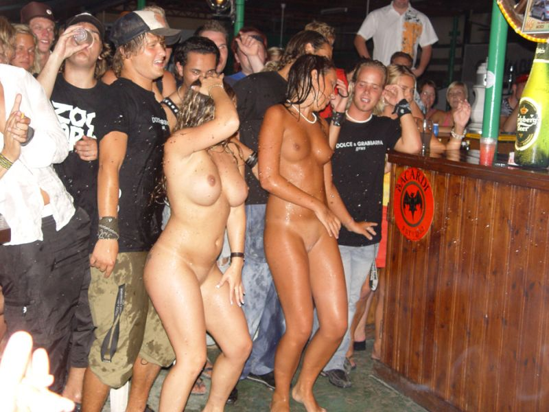 Wild party babes naked and drunk